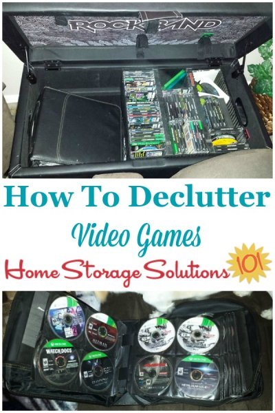 How to declutter video games {on Home Storage Solutions 101}