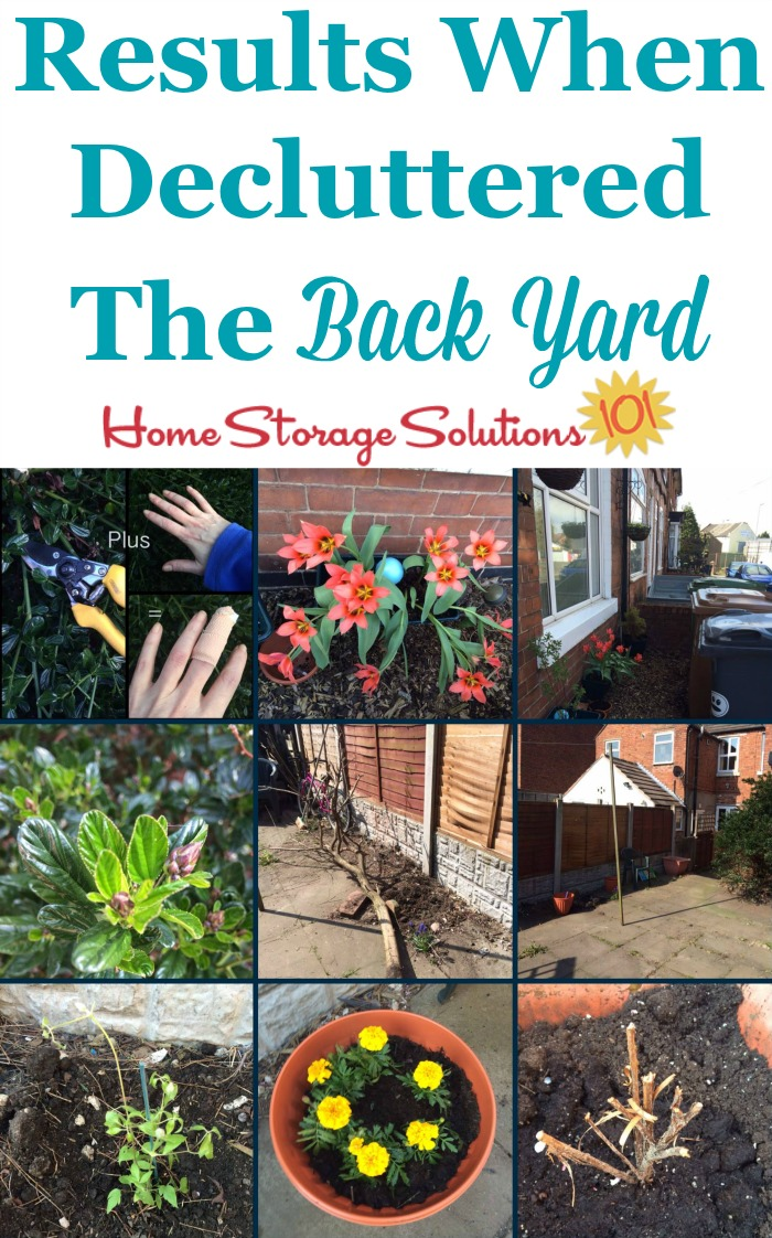 Results when decluttered the back yard {part of the #Declutter365 missions on Home Storage Solutions 101}