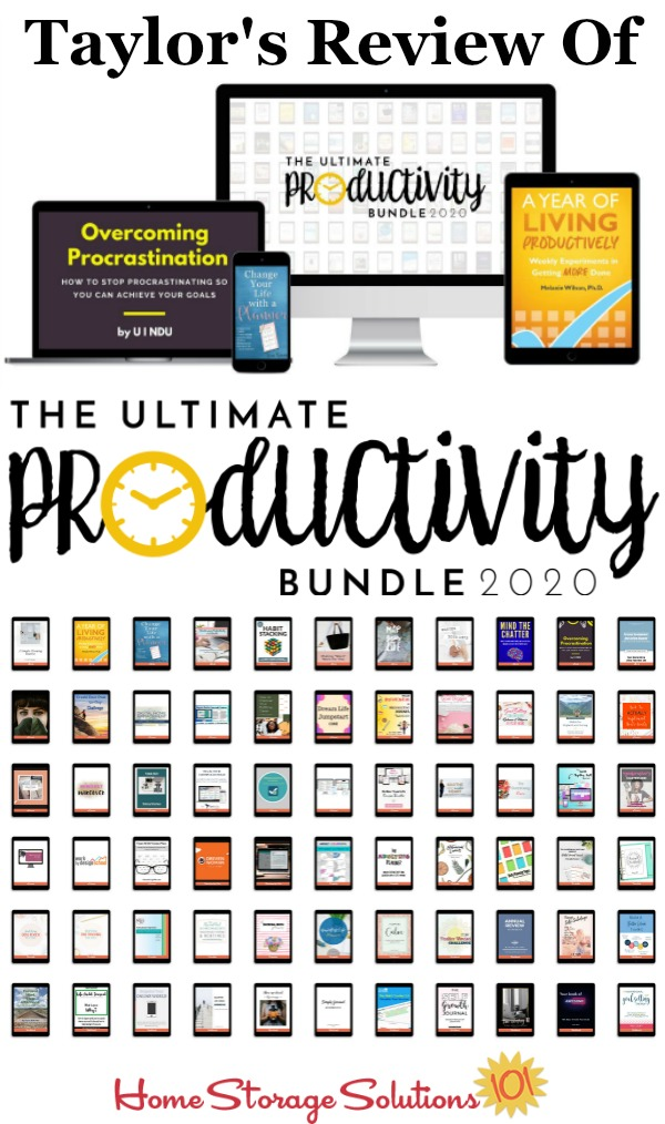 The 2020 Ultimate Productivity Bundle has 68 resources to help you with time management, goal setting, and productivity at work and home, including printables, eBooks and eCourses, that is worth more than $2,700, but costs just $67 {more information on Home Storage Solutions 101}