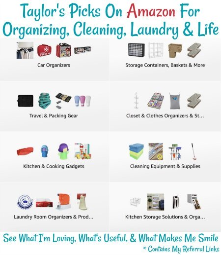 Taylor's picks on Amazon for Organizing, Cleaning, Laundry & Life
