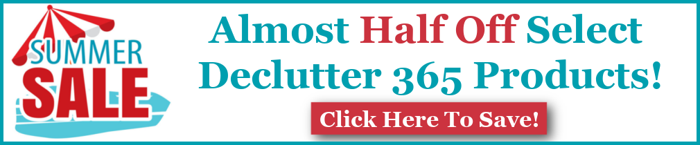 Almost half off select Declutter 365 products