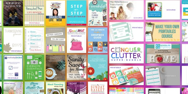 Learn more about the Conquer Your Clutter Super Bundle, which has 38 resources for one low price to help you declutter and organize your home and life.
