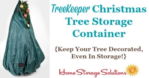 Imagine a Christmas tree storage container that allows you to never disassemble or undecorate your tree ever again, making set up and put away a breeze each holiday season. Well, now it's here! {featured on Home Storage Solutions 101} #ChristmasStorage #HolidayStorage #ChristmasTreeStorage
