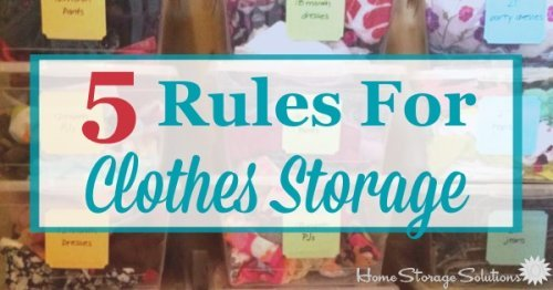 & 5 Rules For Clothes Storage To Keep Them Looking Great