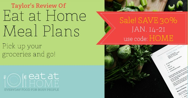 Here's Taylor's review of the Eat At Home monthly meal plans, to help you save time and money, while being able to eat meals as a family, at home, more often {on Home Storage Solutions 101}