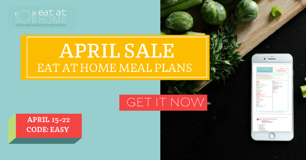 Here's my review of the Eat At Home monthly meal plans, to help you save time and money, while being able to eat meals as a family, at home, more often {on Home Storage Solutions 101}