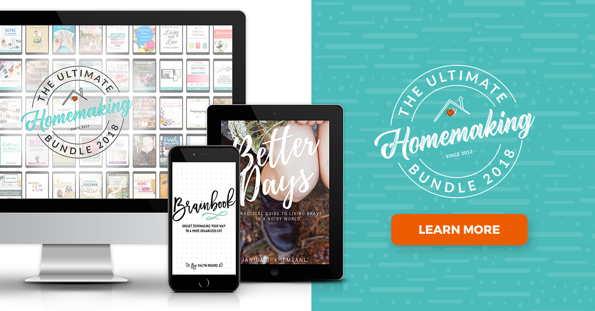 Learn more about the Ultimate Homemaking Bundle, which has over 129 resources for one low price to help you succeed in all aspects of homemaking.