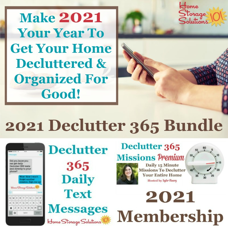 Make 2021 your year to get your home decluttered and organized for good!