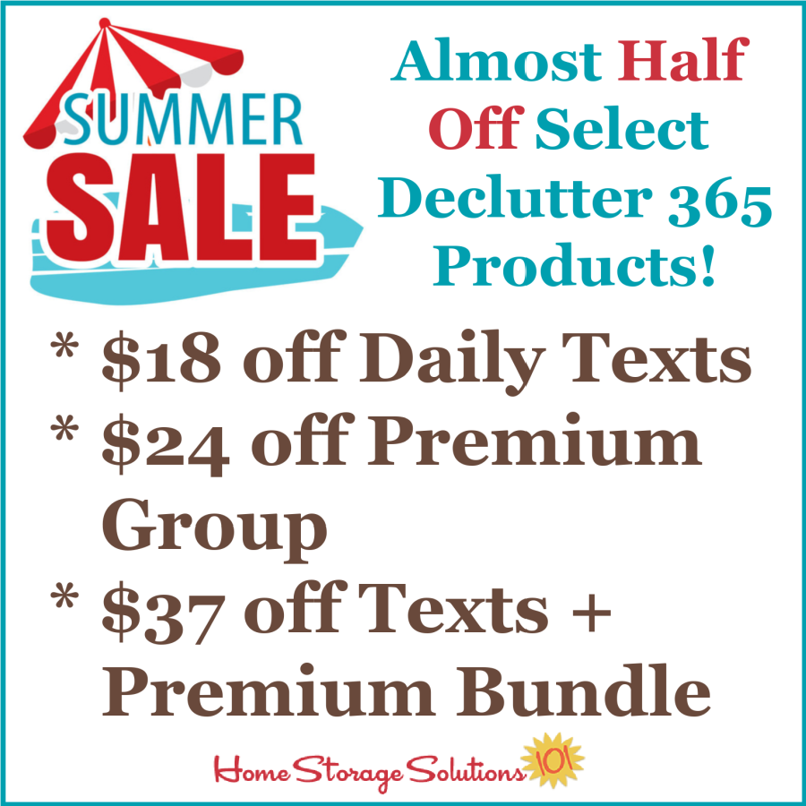 Get your home clutter free in the second half of 2021 with almost half off select Declutter 365 products! {on Home Storage Solutions 101}
