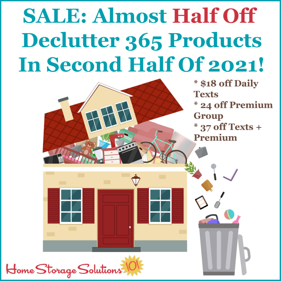Sale: Almost half off Declutter 365 products in second half of 2021