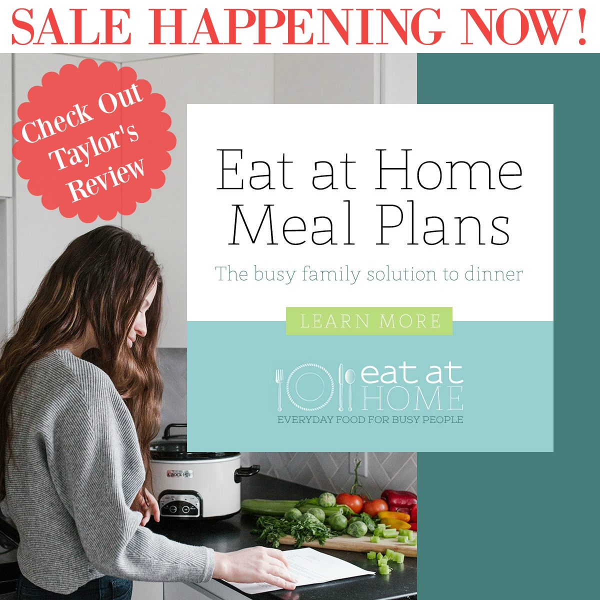 Check out Taylor's review of Eat at Home Meal Plans sale, which is currently on sale
