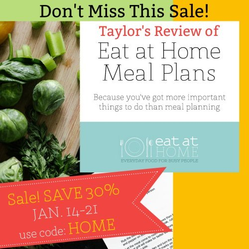 Check out the sale on the Eat at Home meal plans happening now