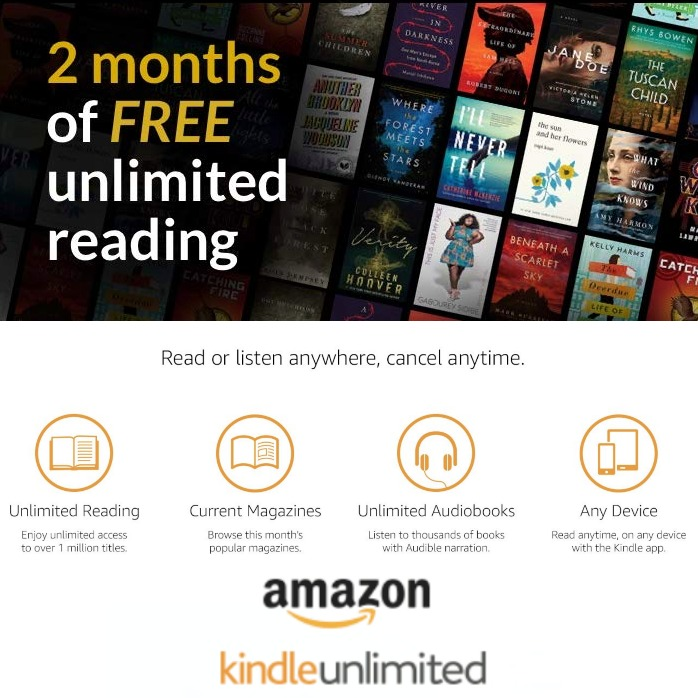 Right now there's a sale on Kindle Unlimited, to get two free months of unlimited reading {featured on Home Storage Solutions 101}