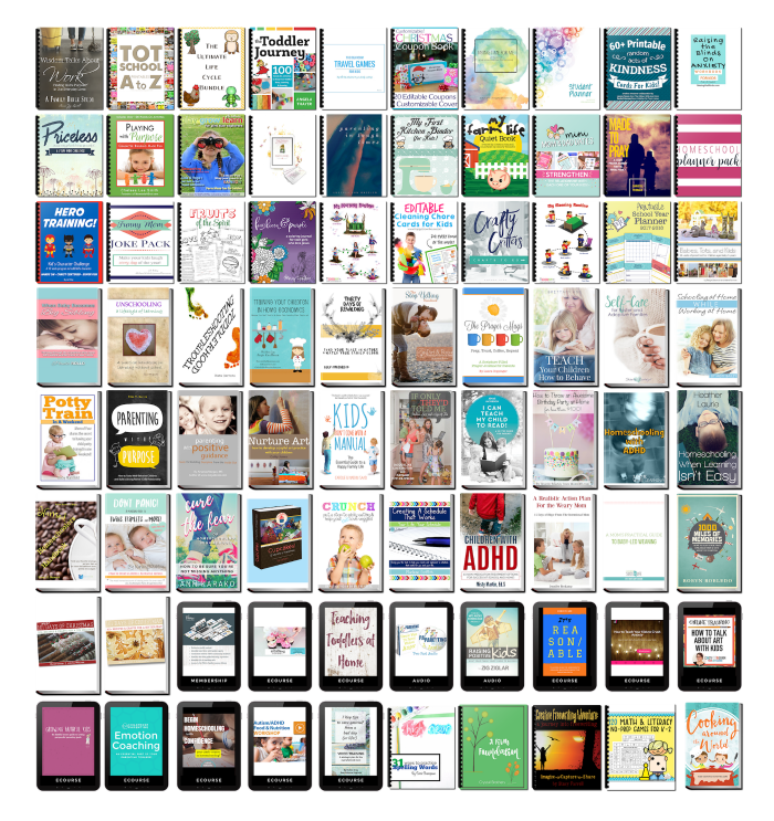 All the resources in the 2017 Parenting Super Bundle