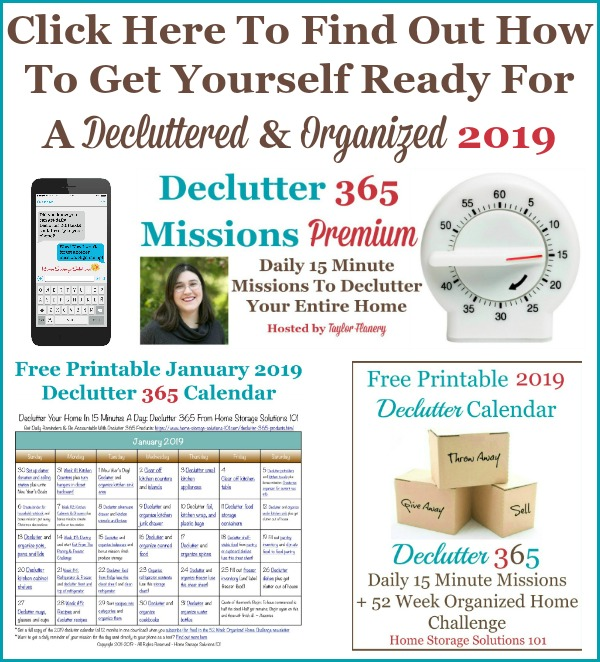 Click here to find out how to get yourself ready for a decluttered and organized 2019