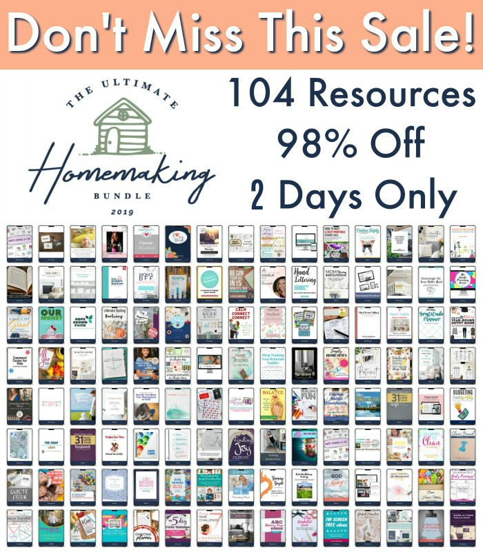 Don't miss the Ultimate Homemaking Bundle flash sale, 2 days only