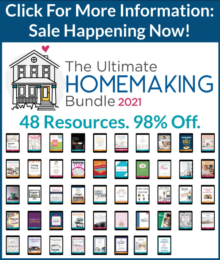 Sale on Ultimate Homemaking Bundle happening now, click for more information