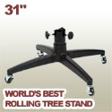31 inch rolling artificial Christmas tree stand
