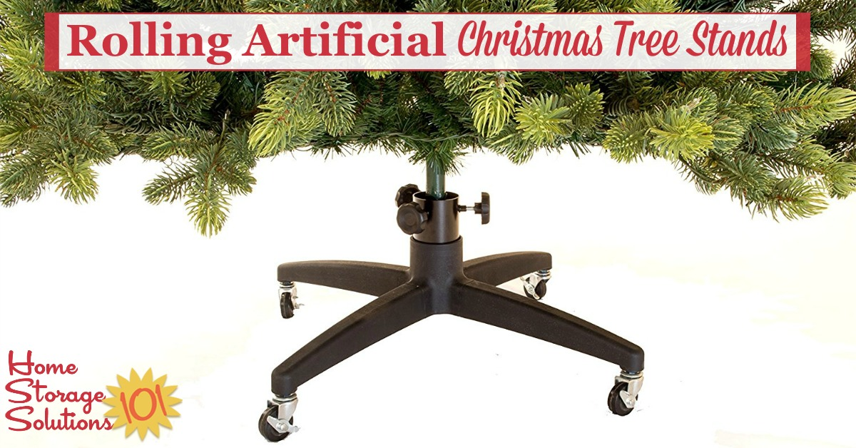 rolling artificial christmas tree stands make storage a breeze - Cheap Christmas Tree Stands