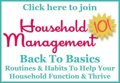 Click here to join the Household Management 101 Back to Basics Facebook group