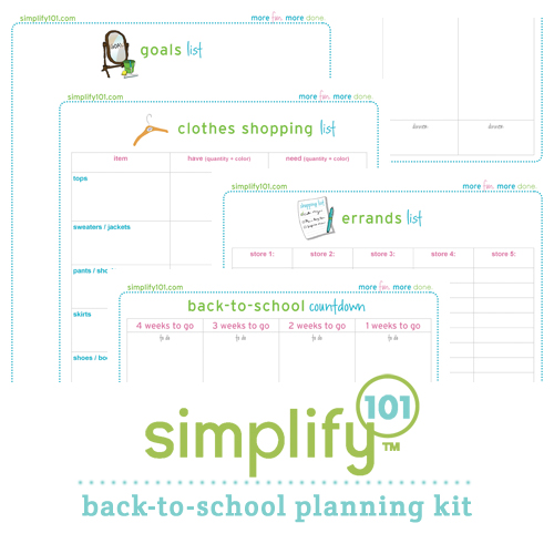 back to school planning kit
