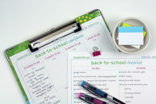 back to school countdown and checklist