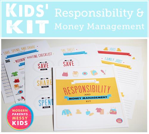 kids' responsibility and money management kit