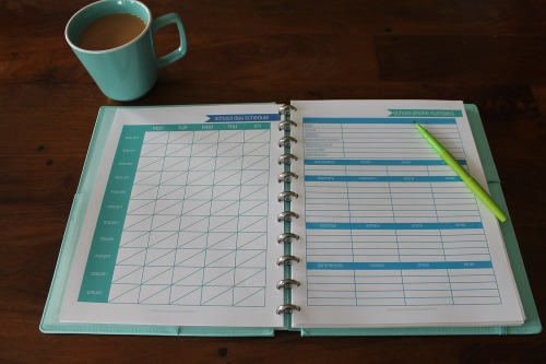 school information kit in binder