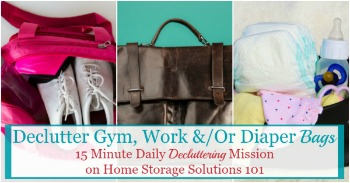 How to keep your bag clutter free and organized