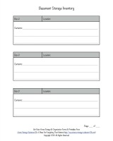 basement storage inventory form