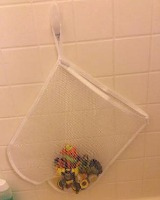 DIY bath toy storage