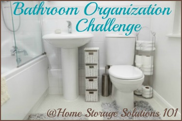 Small Bathrooms Organization bathroom organization challenge: stepstep instructions