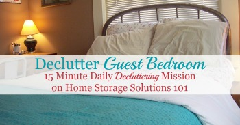 How to declutter guest bedroom