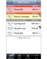 BillTracker app screenshot