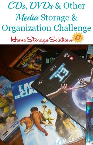 CD and DVD storage and organization challenge