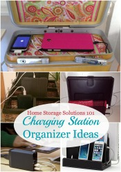 charging station organizer ideas