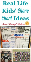 Real life kids' chore chart ideas