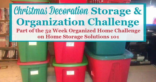 christmas decoration storage challenge organizing holiday decorations