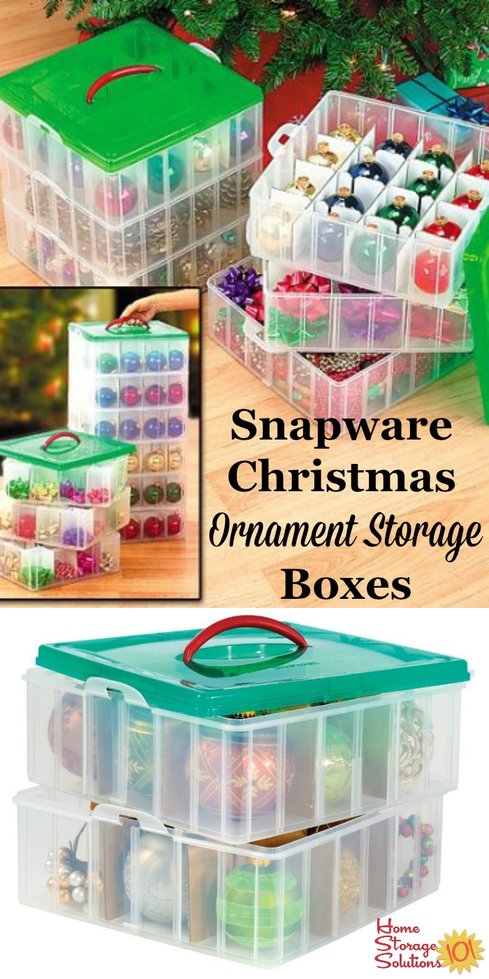 Christmas Ornament Storage Boxes From Snapware, With Dividers, Keep  Individual Ornaments Organized And Prevent ...