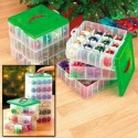 Snapware Christmas ornament storage boxes