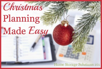 Christmas planning made easy