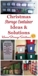 Christmas Storage Container Ideas & Solutions