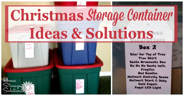 Christmas Storage Containers Festive Way To Hold Your Holiday Decorations