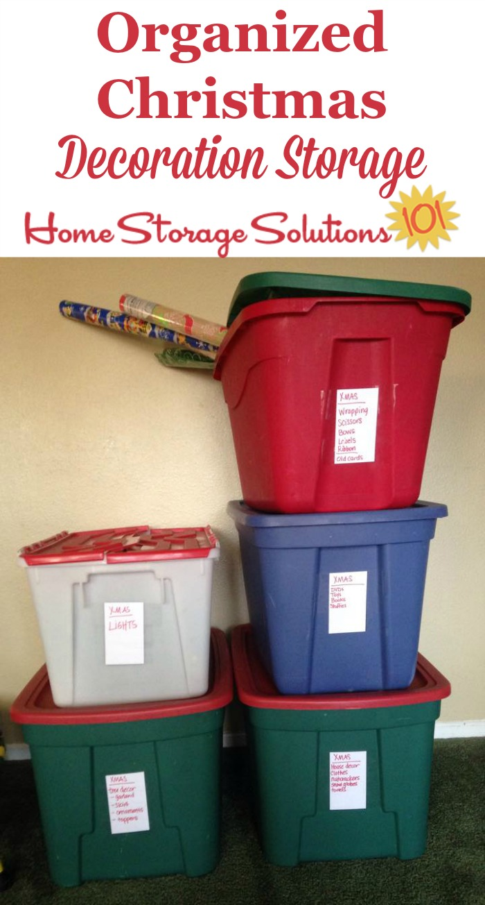 Christmas Storage Containers Festive Way To Hold Your Holiday