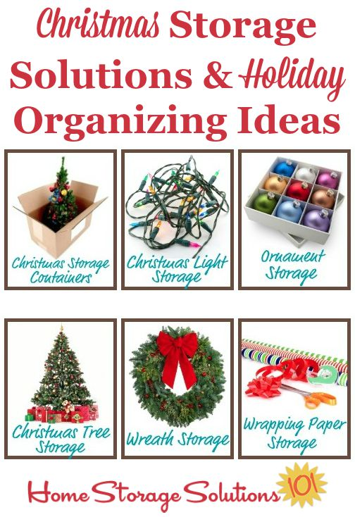 Christmas storage solutions and holiday organizing ideas {on Home Storage Solutions 101} #ChristmasStorage #HolidayOrganizing #ChristmasOrganization