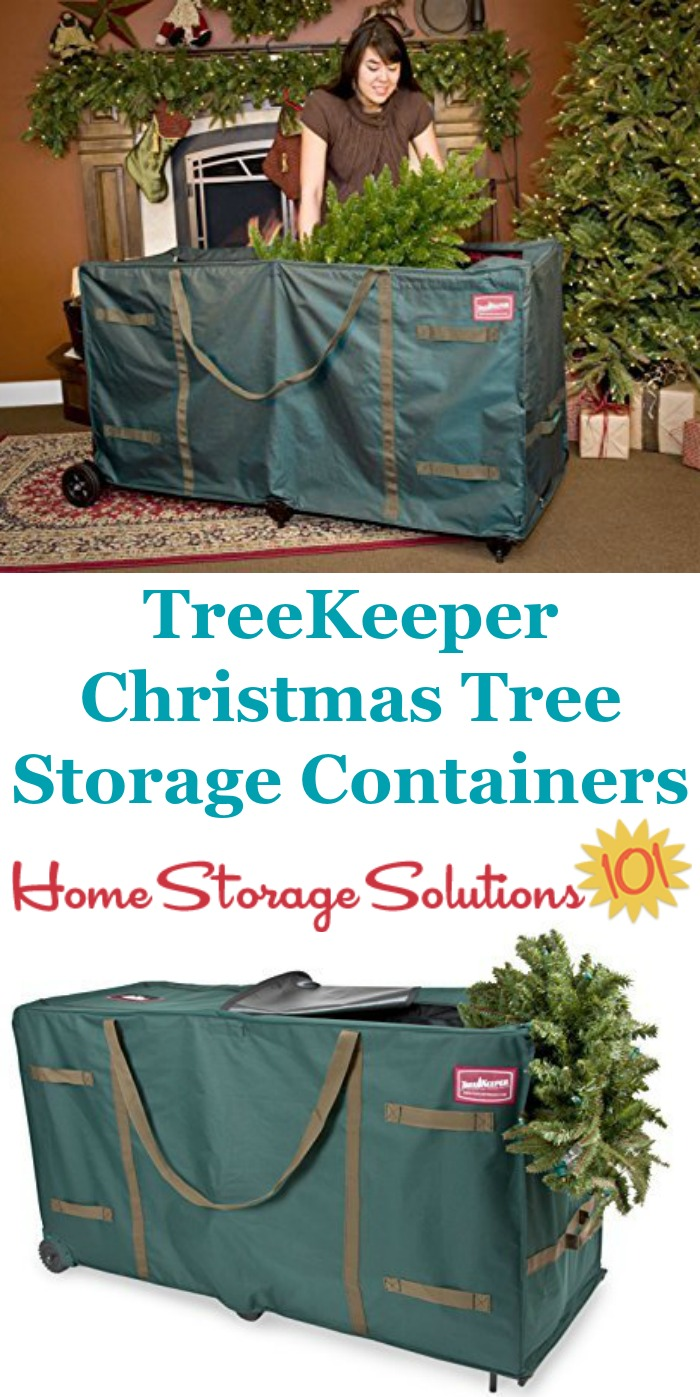 These TreeKeeper artificial Christmas tree storage containers are great for keeping your tree safe and clean ... & Christmas Tree Storage Containers: Duffels To Roll Tree Into Storage