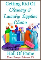 getting rid of laundry and cleaning clutter hall of fame