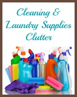 cleaning and laundry supplies clutter