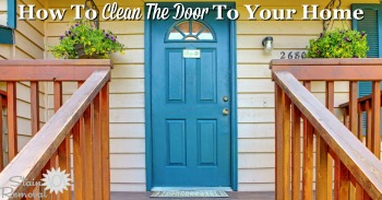 How to clean the door to your home