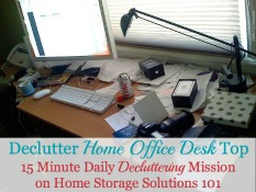 declutter home office desk top